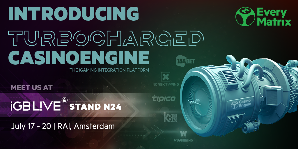 EveryMatrix introduces Turbocharged CasinoEngine at the first edition of iGB L!ve 2018