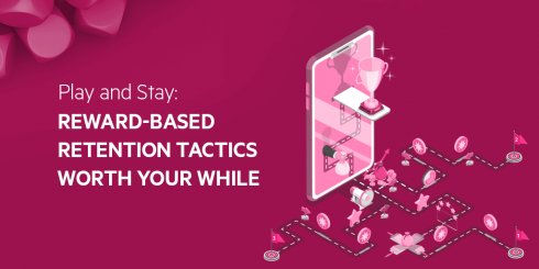 Abstract image with text Reward-based retention tactics worth your while
