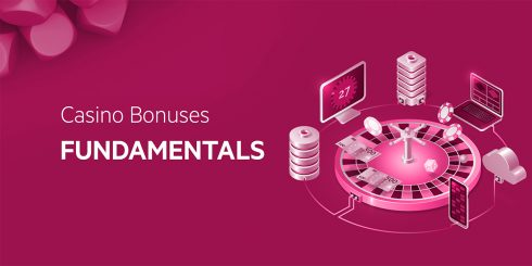 Abstract image with the text Casino Bonuses Fundamentals